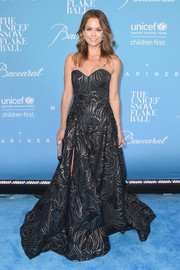 Brooke Burke-Charvet looked regal in a black and silver strapless gown by Rubin Singer at the UNICEF Snowflake Ball.