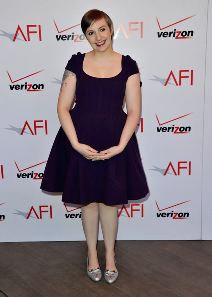 More Pics of Lena Dunham Cocktail Dress (4 of 9) - Lena Dunham Lookbook - StyleBistro