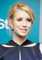 Emma Roberts wore a pair of 15-carat diamond cluster earrings at the 13th Annual Warner Bros. and 'InStyle' Golden Globes After Party.