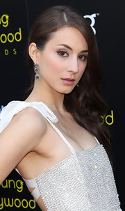 Troian Bellisario topped off her glam Young Hollywood Awards look with a dramatic side-sweep.
