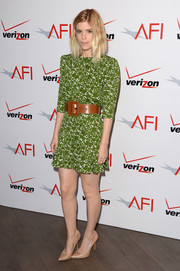 Kate Mara brought a summer vibe to the AFI Awards with this Michael Kors print dress.