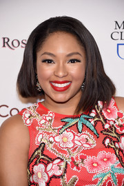 Alicia Quarles rocked an asymmetrical haircut at the Woman's Day Red Dress Awards.
