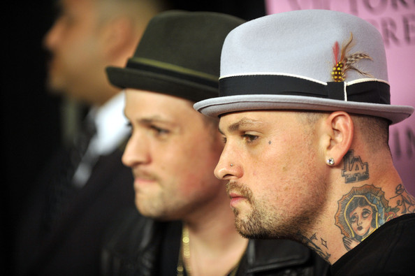 Benji Madden has a cartoonish Virgin Mary tattoed to the side of his neck.