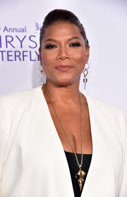 Queen Latifah was elegantly coiffed with this classic bun at the Chrysalis Butterfly Ball.
