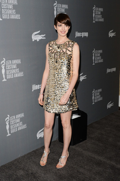 More Pics of Anne Hathaway Strappy Sandals (5 of 32) - Anne Hathaway Lookbook - StyleBistro