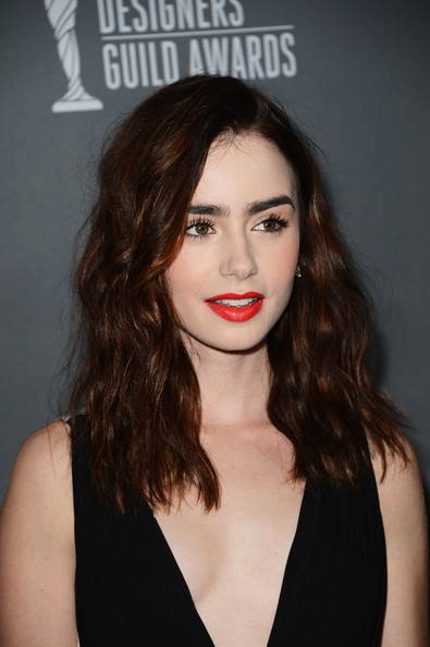 more pics of lily collins red lipstick 13 of 20 lily