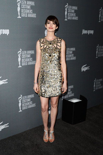 More Pics of Anne Hathaway Strappy Sandals (3 of 32) - Anne Hathaway Lookbook - StyleBistro