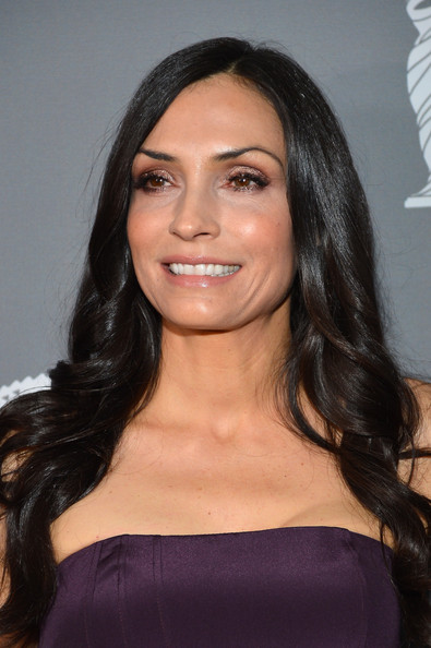 More Pics of Famke Janssen Strapless Dress (1 of 5) - Famke Janssen Lookbook - StyleBistro