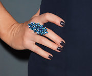 Roseanne Fiedler opted for an over sized blue cocktail ring at the 2013 Costume Designers Guild Awards.