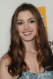 Anne Hathaway wore a 14-carat white gold and black diamond necklace at the 15th Annual Hollywood Film Awards gala.