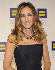 At the 15th Annual Human Rights Campaign national dinner, Sarah Jessica Parker was all about smoky eyes and a nude-pink lip color. To get her look, try Laura Mercier Lip Colour Creme in a shade like Rose