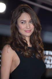 Olga Kurylenko left her hair loose with bouncy curls for day 7 of the Marrakech International Film Festival.