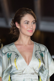 Olga Kurylenko swept her hair up into a messy, curly 'do for day three of the Marrakech International Film Festival.