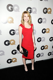 Emma Roberts was red hot at the GQ Men of the Year soiree. She topped off her look with black patent leather platform pumps.