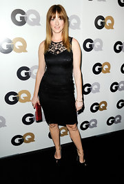 Judy Greer worked her little black lace dress on the GQ Men of the Year carpet.