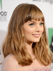 Bella's thick honey blond tresses had a slight wave at the Hollywood Film Awards Gala.