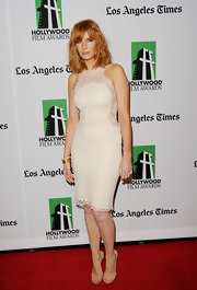 Kelly Reilly stepped out in a textured LWD at the Hollywood Film Awards Gala.