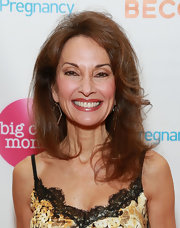 Susan Lucci stuck to her signature blown-out layered 'do at the Big City Moms event in NYC.