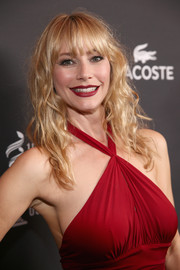 Meredith Monroe styled her hair with messy-chic waves and wispy bangs for the Costume Designers Guild Awards.