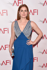 Amy Adams accessorized with a chic color-block tube clutch by Ferragamo at the AFI Awards.