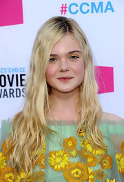 Elle Fanning added some texture to her long straight hair for the 17th Annual Critics' Choice Movie Awards.