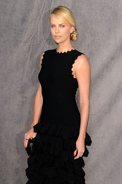 More Pics of Charlize Theron Braided Bun (1 of 33) - Braided Bun Lookbook - StyleBistro