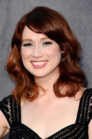 Ellie Kemper wore her titian locks in soft curls at the 17th Annual Critics' Choice Movie Awards.