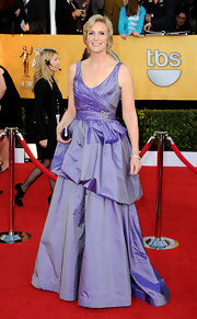 Jane looked like a prom princess in a lilac taffeta evening gown at the SAG Awards.