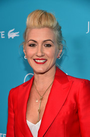 Trish Summerville teased her locks into a cool pompadour for the Costume Designers Guild Awards.