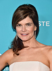 Betsy Brandt opted for a retro-glam teased side ponytail for her Costume Designers Guild Awards look.