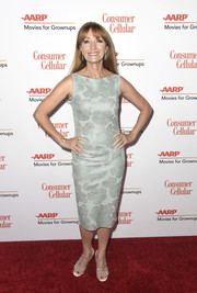 Jane Seymour donned a sleeveless sage-green sheath for the 2019 Movies for Grownups Awards.