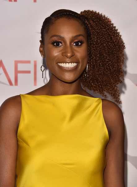 More Pics of Issa Rae Cocktail Dress (1 of 3) - Issa Rae Lookbook - StyleBistro [hair,hairstyle,yellow,fashion,cocktail dress,smile,ringlet,jheri curl,fashion design,style,arrivals,issa rae,los angeles,four seasons hotel,california,beverly hills,afi awards]