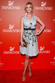 Ivanka Trump attended the ACE Awards wearing a swoon-worthy flower-embroidered dress by Carolina Herrera.