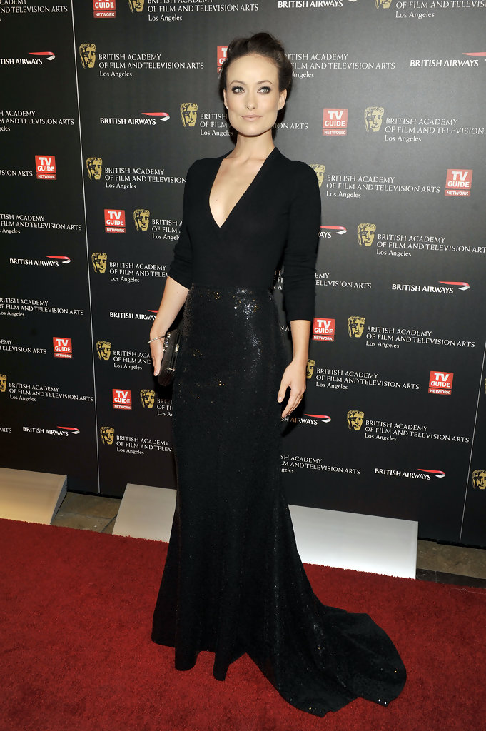 Olivia Wilde poses for a picture at the 18th Annual BAFTA Britannia Awards held at the Hyatt Regency Century Plaza Hotel on November 4, 2010 in Los Angeles, California.