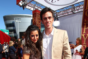 Actress Noureen DeWulf and NHL goalie Ryan Miller arrive at the 2010 ESPY Awards at Nokia Theatre L.A. Live on July 14, 2010 in Los Angeles, California.
