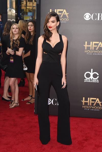 More Pics of Emily Ratajkowski Statement Ring (7 of 23) - Decorative Rings Lookbook - StyleBistro [red carpet,carpet,clothing,dress,premiere,flooring,little black dress,fashion,fashion model,shoulder,the palladium,hollywood,california,18th annual hollywood film awards,emily ratajkowski]