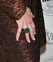 A nice pop of emerald is always a great color to add to your look. Kate Linder rocked an emerald cocktail ring to the Pre-Oscar party.