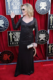 Jessica Lange wore a glittering chocolate gown to the SAG Awards.
