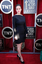 Heather Lind wore a sleek LBD to the SAG Awards.