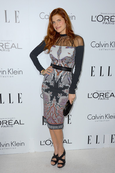 More Pics of Lake Bell Print Dress (1 of 14) - Lake Bell Lookbook - StyleBistro