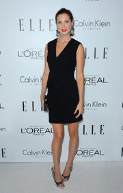 We loved Eva's peplum twist on a classic LBD.