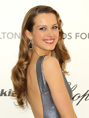 Petra Nemcova wore Tanzanite rose cut diamond drop earrings to the 19th Annual Elton John AIDS Foundation's viewing party.