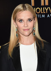 Reese Witherspoon dolled up her look with a pair of colorful gemstone earrings by Irene Neuwirth.
