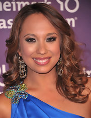 Cheryl Burke attended the A Night st Sardi's fundraiser wearing her brunette tresses in soft ringlet curls parted down the center.