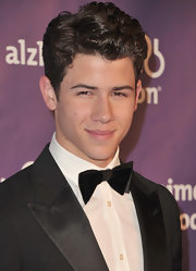Nick Jonas showed off his classic side in a velvet bow tie.