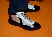 Lamar Odom rocked a futuristic pair of basketball sneakers at the Race to Erase MS Gala.