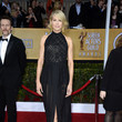 Jenna Elfman Wore a Halter Neck Black Gown at the 2013 SAG Awards