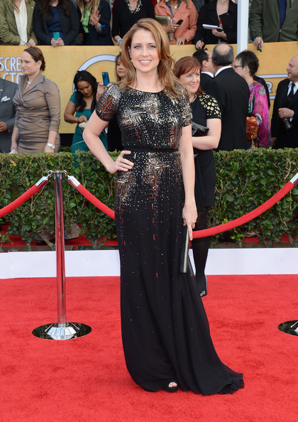 More Pics of Jenna Fischer Evening Dress (1 of 7) - Jenna Fischer Lookbook - StyleBistro