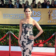 Rocsi Diaz Wore a Black and Cream Lace Dress at the 2013 SAG Awards