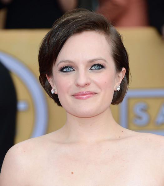 More Pics of Elisabeth Moss Little Black Dress (1 of 14) - Elisabeth Moss Lookbook - StyleBistro